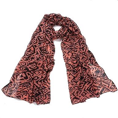 d5a5191db7f4 DonDon écharpe pour femme Motif de tigre doux et grand - Orange - One Size   Amazon.fr  Vêtements et accessoires