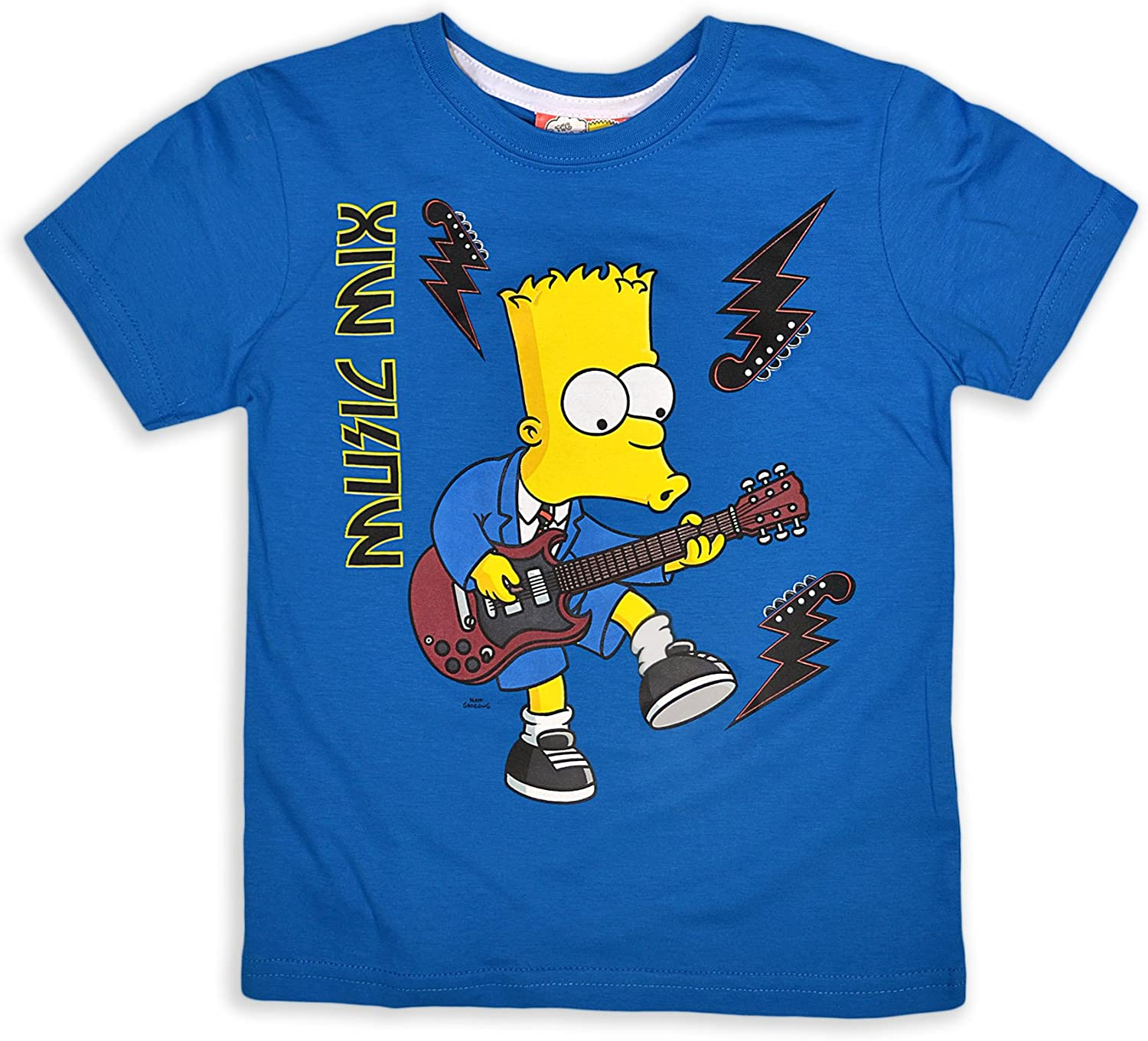Kids Long Sleeve Character Top Boys Printed The Simpsons Shirts Size 2-8Years