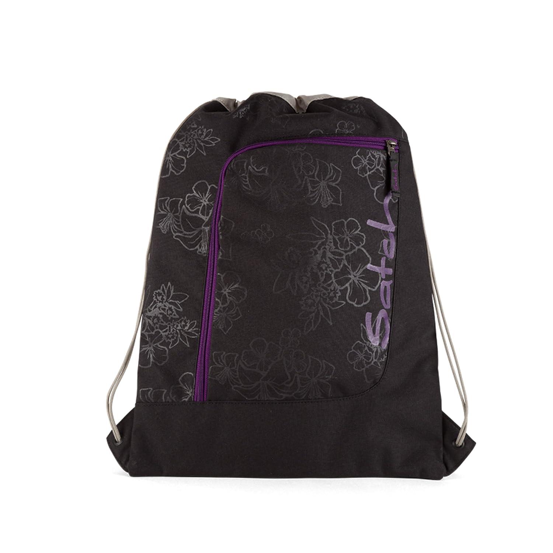 b025e4ba31f2d satch Pack Purple Hibiscus 4-teiliges Set Rucksack Sportbeutel   Tripleflex  schwarz Penbox