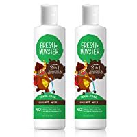 Fresh Monster Toxin-Free Hypoallergenic 2-in-1 Kids Shampoo & Conditioner, Coconut...