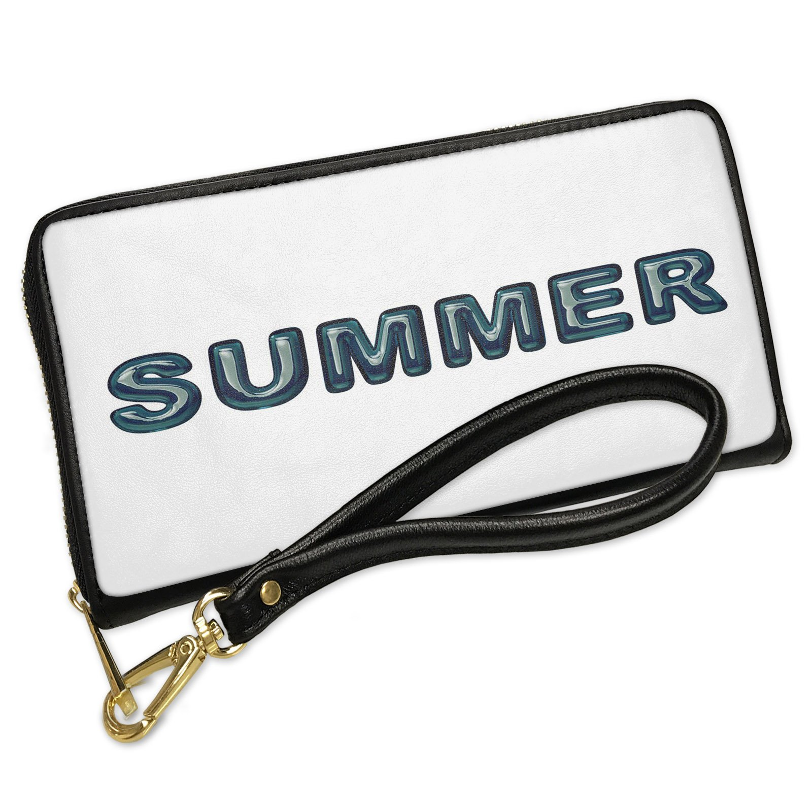 Wallet Clutch Summer Blue Green water like Glass with Removable Wristlet Strap Neonblond