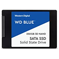 "Western Digital WDS250G2B0A WD Blue 250GB 3D NAND Internal SSD 2.5"" SATA"