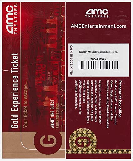 2 AMC Theatre Gold Experience Movie Tickets