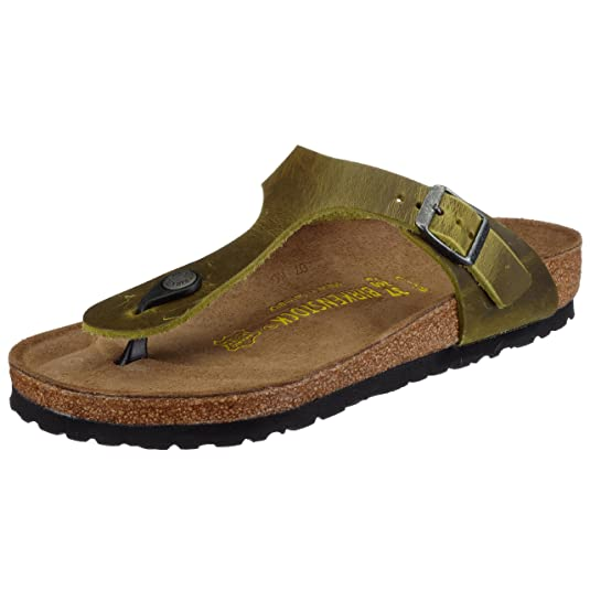 BIRKENSTOCK Zehensteg Sandale Gizeh Graceful Gemm Gold BF Gr. 35-43 - 1012398, Größe + Weite:41 Normal, Farben:Graceful Gemm Gold