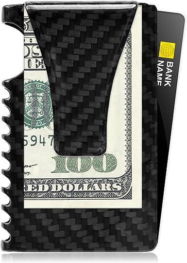 REAL CARBON FIBER MONEY CLIP GLOSS CARD BILLS CASH HOLDER WALLET FRONT POCKET