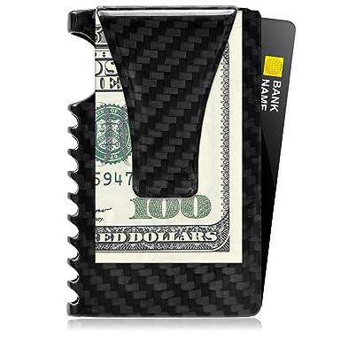 04b1e204e29f Image Unavailable. Image not available for. Color  RFID Minimalist Wallet  for Men – Carbon Fiber Slim ...