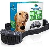 Advance No Bark Collar By Perfect Quality Solution-No Harm Shock Dog Control-7 Sensitivity Adjustable Control Levels For Training Small Medium Or Large Dogs-FREE BONUS:Training EBook