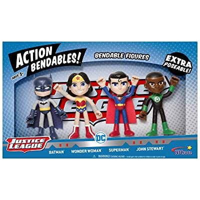 NJ Croce AB5000 Action Bend-Deez! 4 PC Justice League Set, Multicolor: Toys & Games