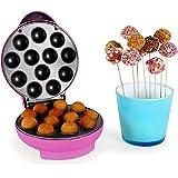 oneConcept Boogie Pop Cake Maker - Machine à cake pops de 1300W avec revêtement anti-adhésif (12 popcakes, Ø gateaux 3.5cm, cuisson en 7 minutes max) - rose