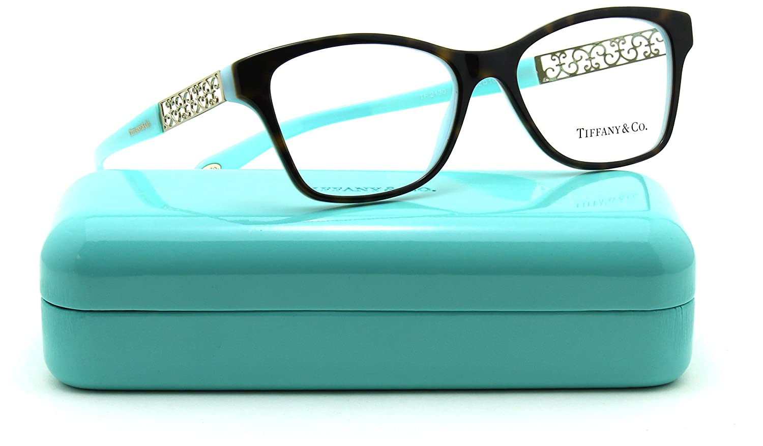 e701f6283c Amazon.com  Tiffany   Co. TF 2130 Women Cat-Eye Eyeglasses RX - able (8134)  54mm  Clothing