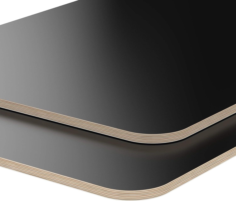170x100 cm AUPROTEC Tischplatte 18mm schwarz 1700 mm x 1000 mm rechteckige Multiplexplatte melaminbeschichtet von 40cm-200cm ausw/ählbar Ecken Radius 100mm Birken-Sperrholzplatten Auswahl