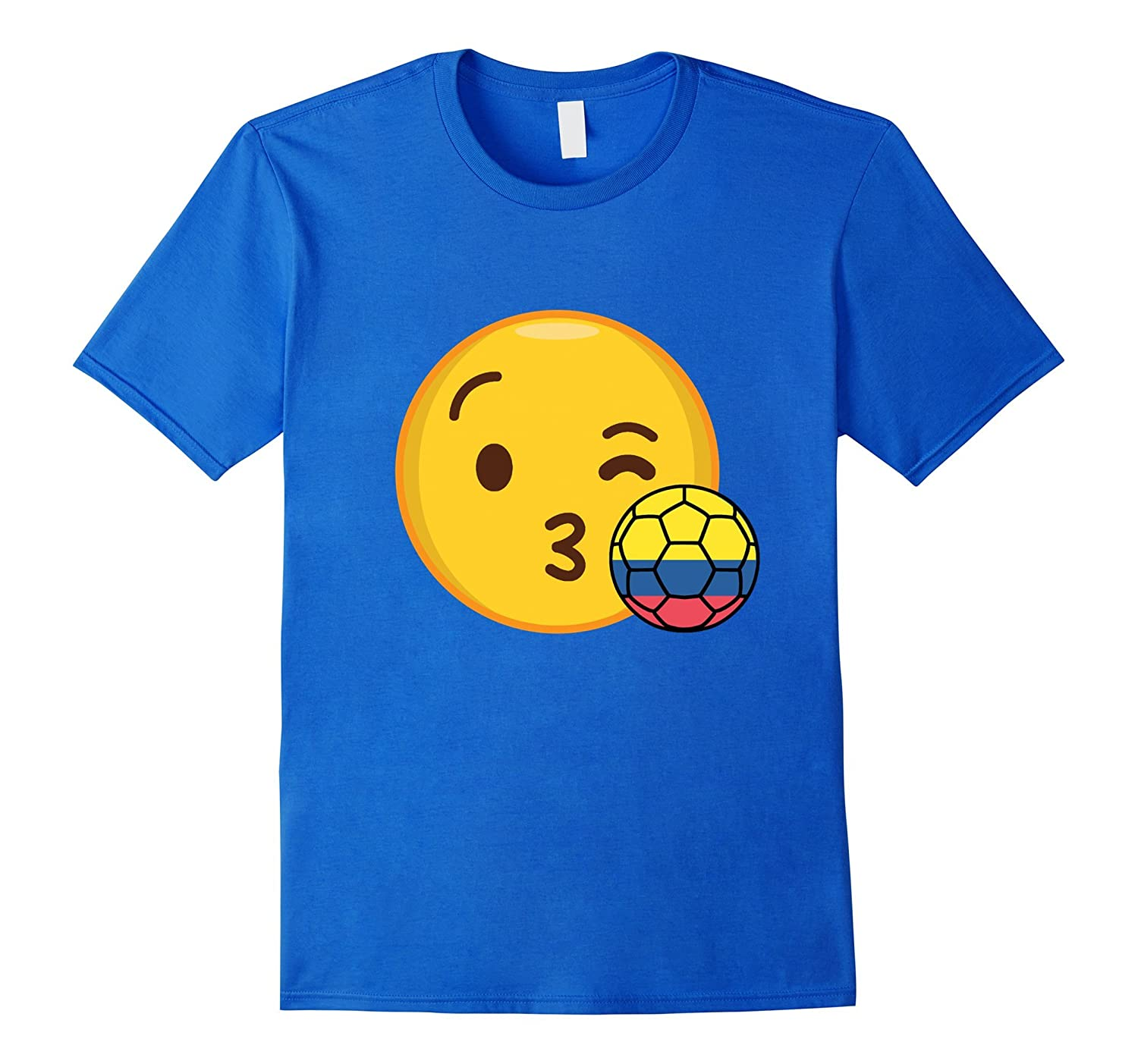 Emoji Loves Colombia Soccer T-Shirt Colombian Futbol Funny | MaxiGeo ...