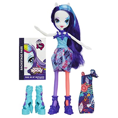 My Little Pony Equestria Girls Rainbow Rocks Rarity Doll with Fashions: Toys & Games