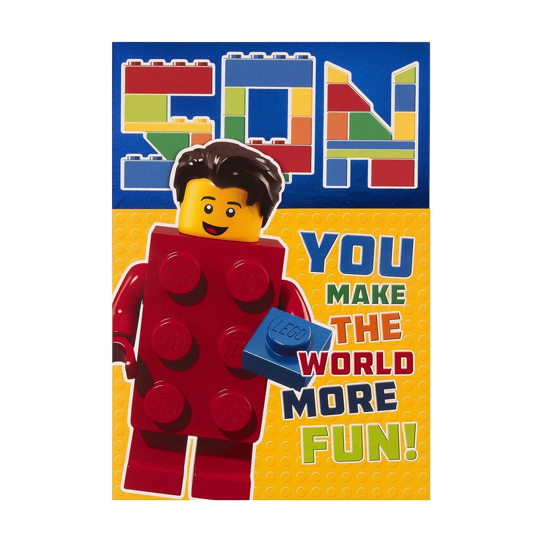 Tarjeta de cumpleaños para hijo de Hallmark - diseño de LEGO ...
