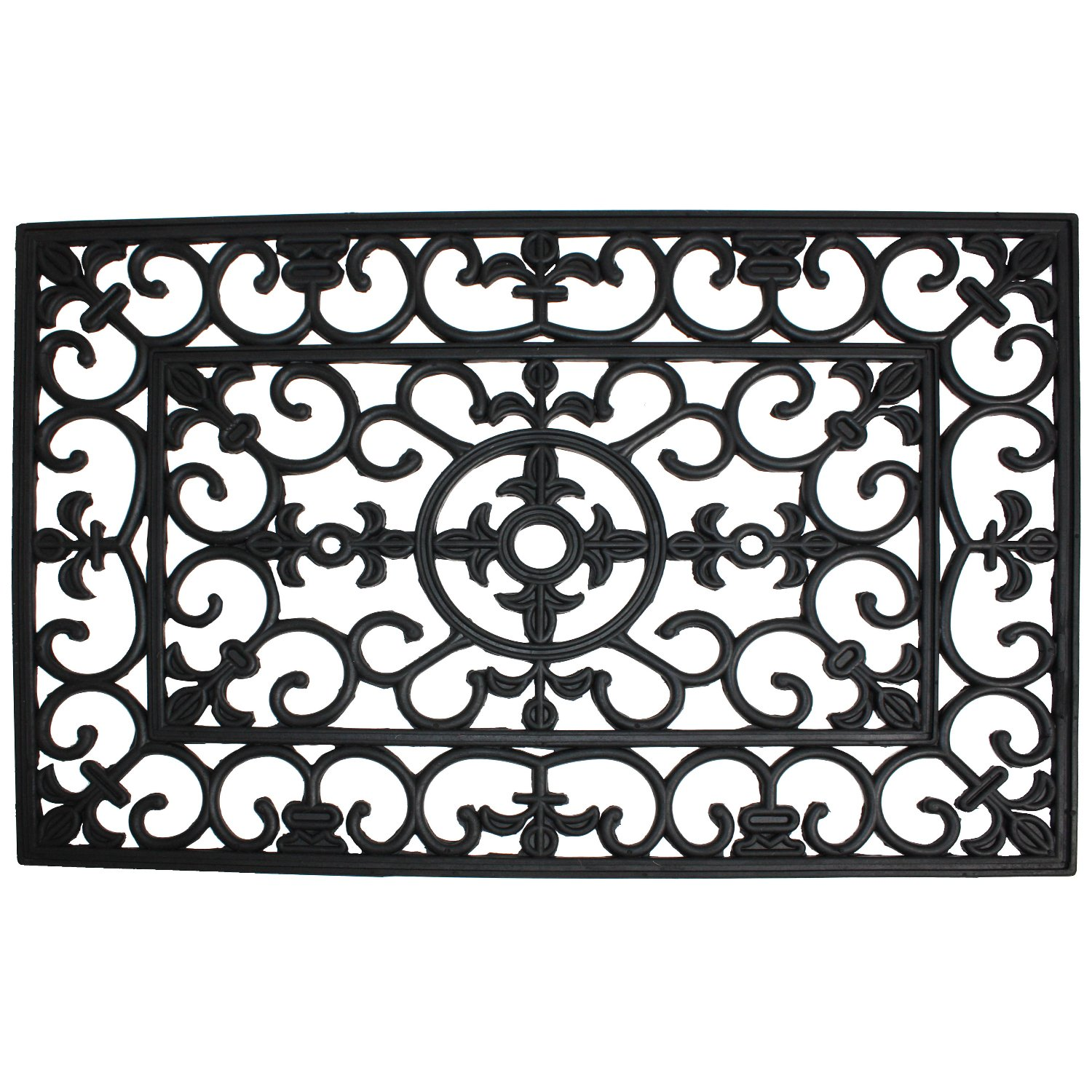 Amazon.com: J U0026 M Home Fashions Wrought Iron Natural Rubber Doormat,  24 Inch By 36 Inch: Home U0026 Kitchen