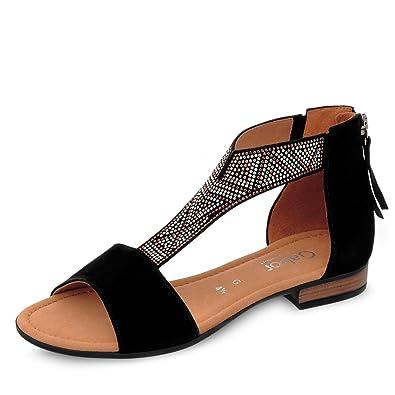 a47930e285e231 Gabor Comfort Sport Sandalette in Übergrößen Schwarz 82.763.47 große  Damenschuhe  Gabor Comfort  Amazon.de  Schuhe   Handtaschen