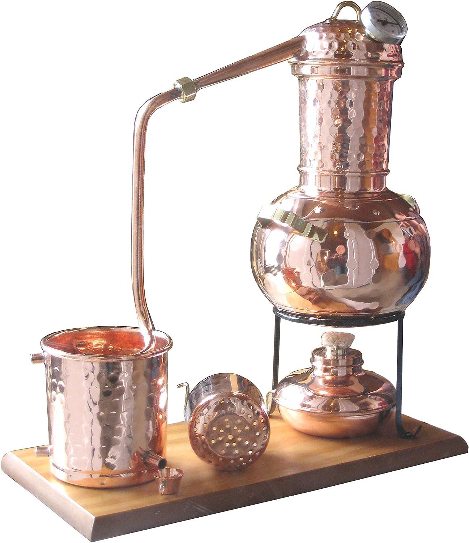 Richter® Destille 2 Liter Modell Kalif mit Aromakorb Thermometer und Spiritusbrenner Dr Aktuelles Modell; Premiumedition II