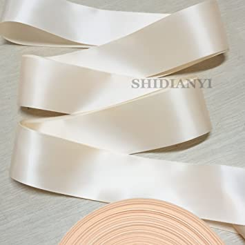 Light Peach Double Faced Satin Ribbon Sash Bridal Wedding Bridesmaid Brand New