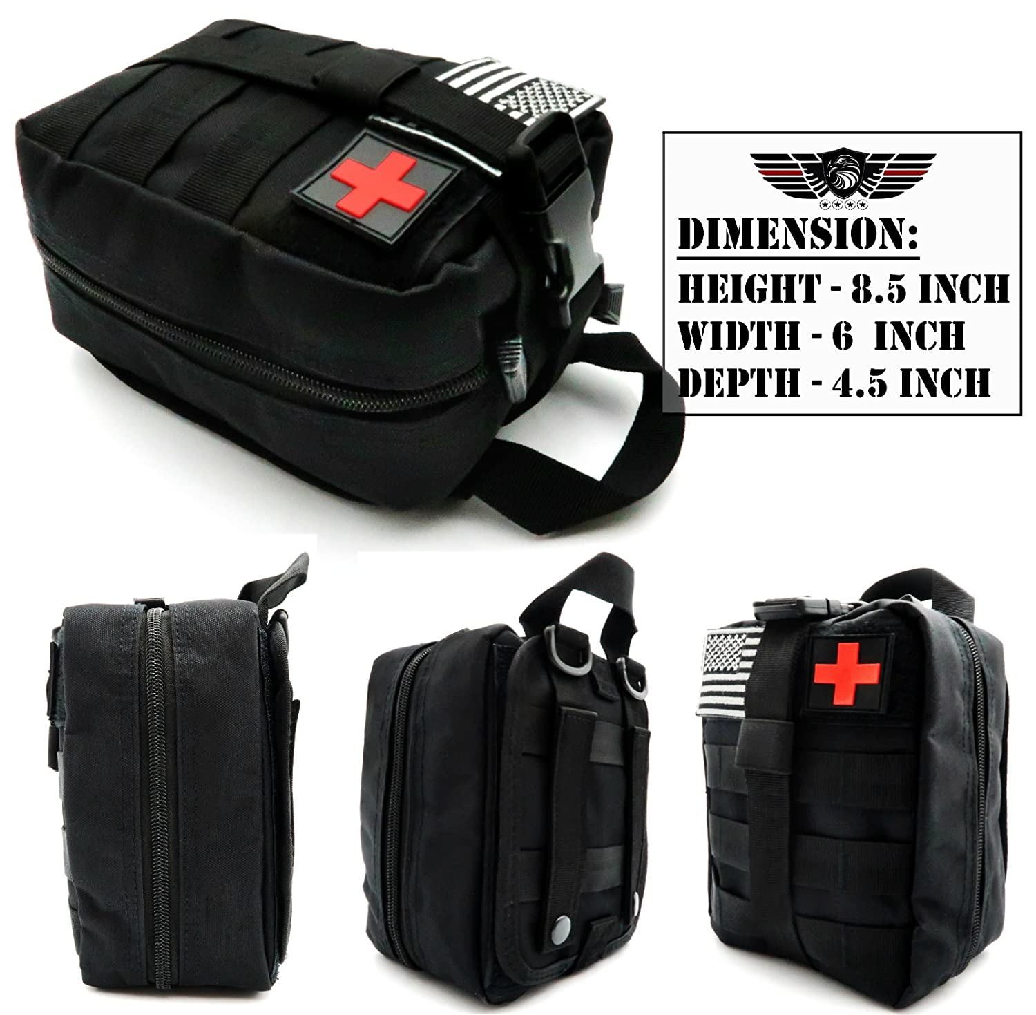 Everlit Emergency Survival Trauma Kit With Tourniquet 36 Taa Furla Metropolis Comic Splint Military Combat Tactical Ifak For First Aid Response Critical Wounds