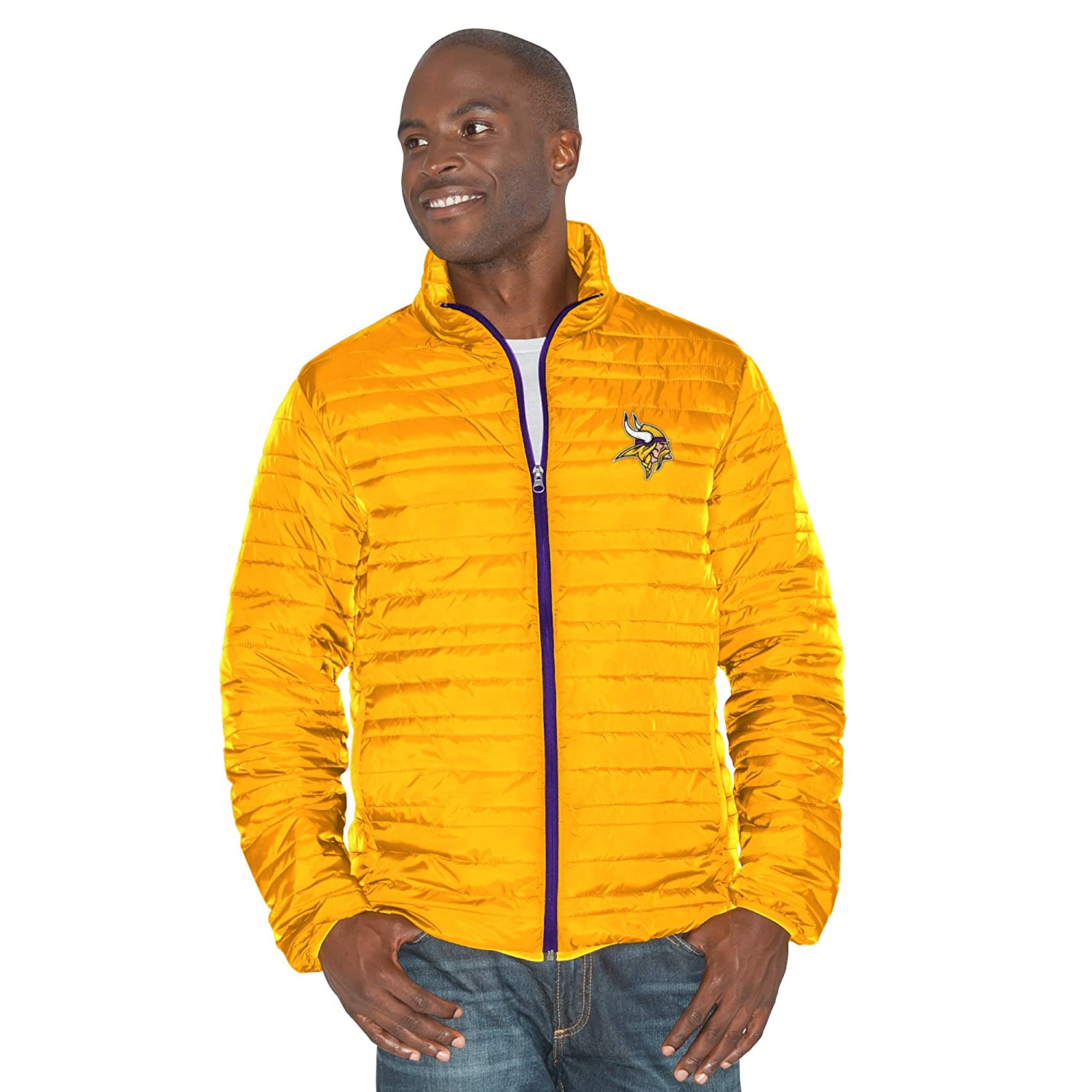 Large Gold//Purple G-III Mens Three and Out 3-in-1 Systems Jacket