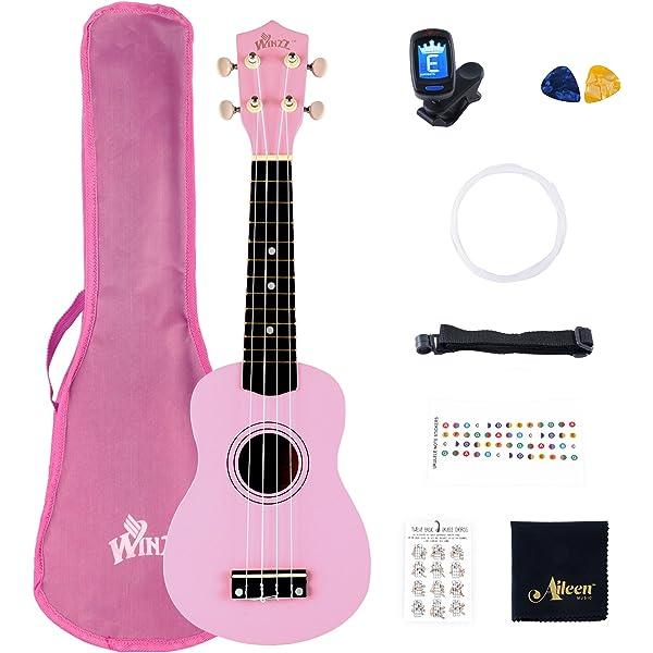 Esound 21 Pulgadas Soprano Ukelele Tilo Mini Guitarra Acústica ...