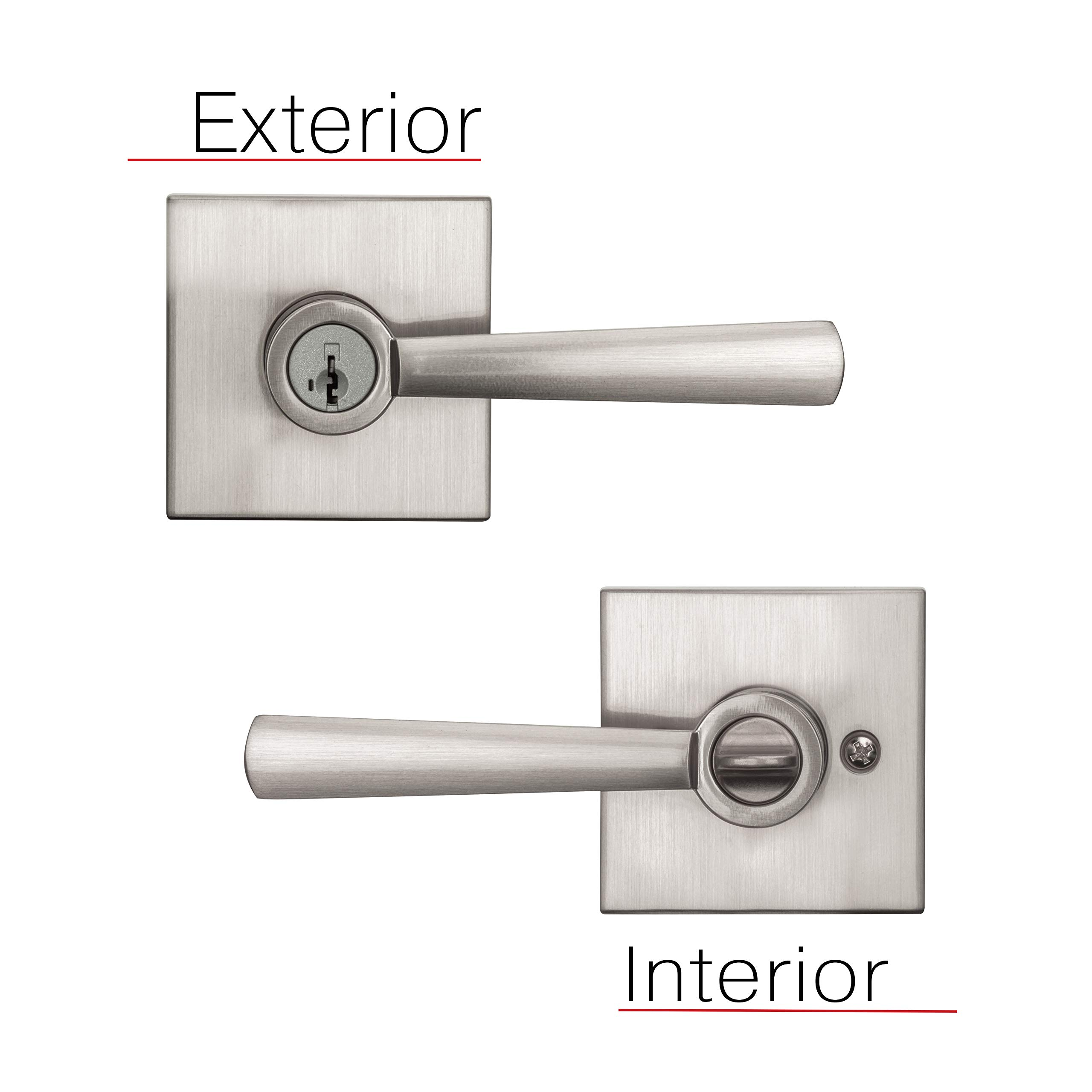 Baldwin Prestige Spyglass Entry Lever featuring SmartKey in Satin Nickel by Baldwin (Image #6)