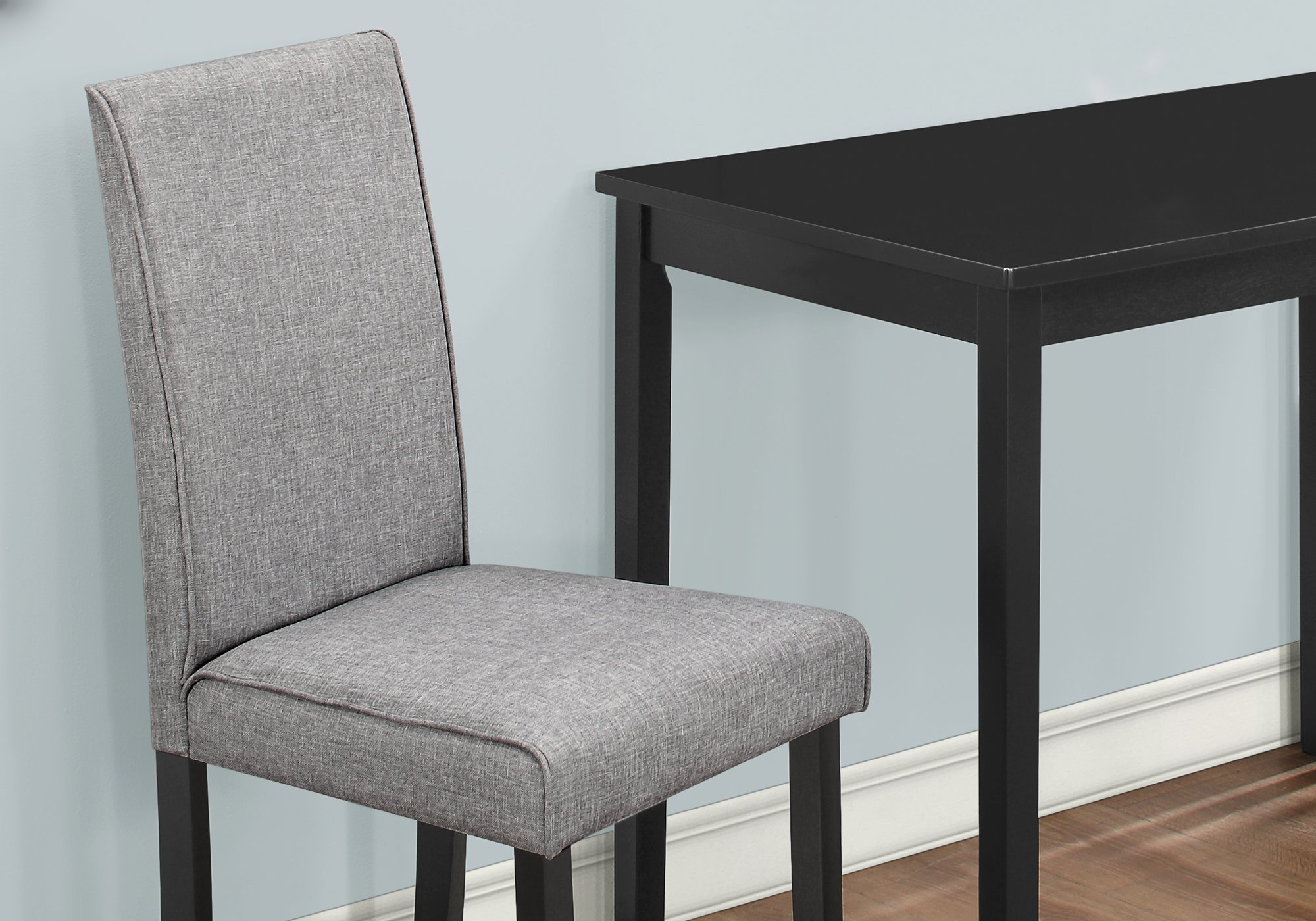 Monarch Specialties I 1016, Dining Set Set, Parson Chairs, Black/Grey, 3pcs by Monarch Specialties (Image #4)