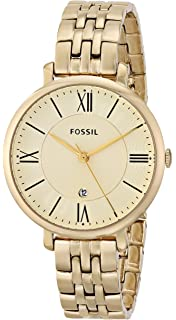 Fossil Womens ES3434 Jacqueline Gold-Tone Stainless Steel Watch