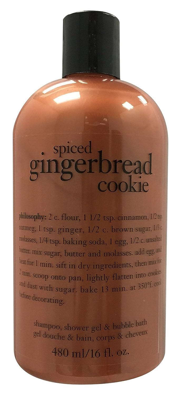 Amazon.com : Philosophy Spiced Gingerbread Cookie Shampoo, Shower Gel & Bubble Bath, 480ml/16 oz : Beauty