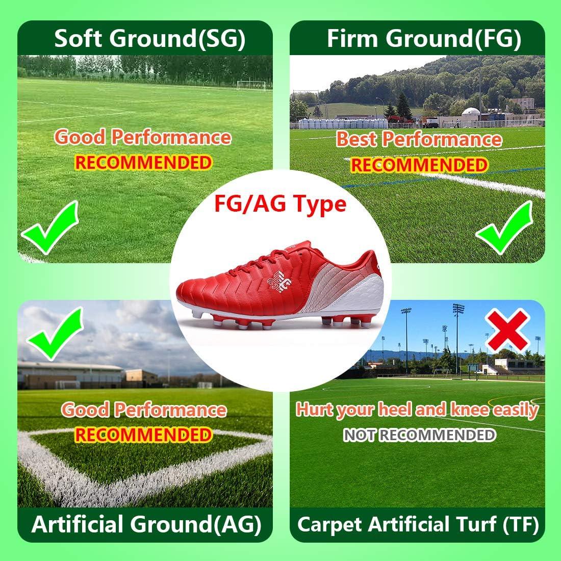 Saekeke Soccer Shoes Kids Boys FG Cleats//TF Professional Training Football Shoes