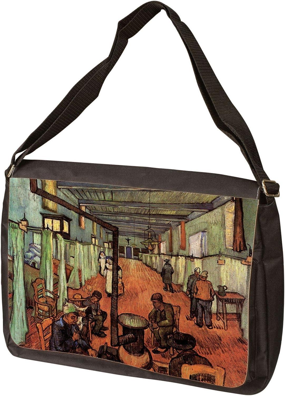 Ward in The Hospital in Arles by Vincent Van Gogh Laptop Shoulder Bag