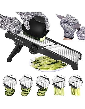 Cortador de mandolina de acero inoxidable, cortador de mandolina ajustable para cocina, comida,