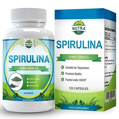 Suplemento Spirulina, Máxima Potencia, Puro Extracto de Supercomida, Beneficia Salud y Bienestar con