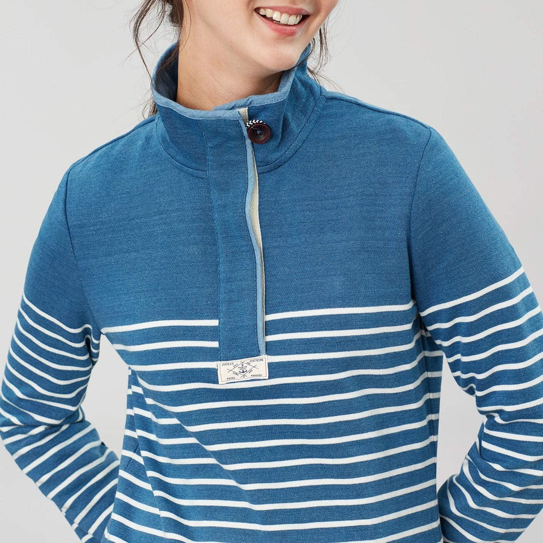 Blue Cream Stripe All Sizes Joules Saunton Salt Womens Jumper Sweater