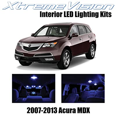 XtremeVision Interior LED for Acura MDX 2007-2013 (13 Pieces) Blue Interior LED Kit + Installation Tool: Automotive