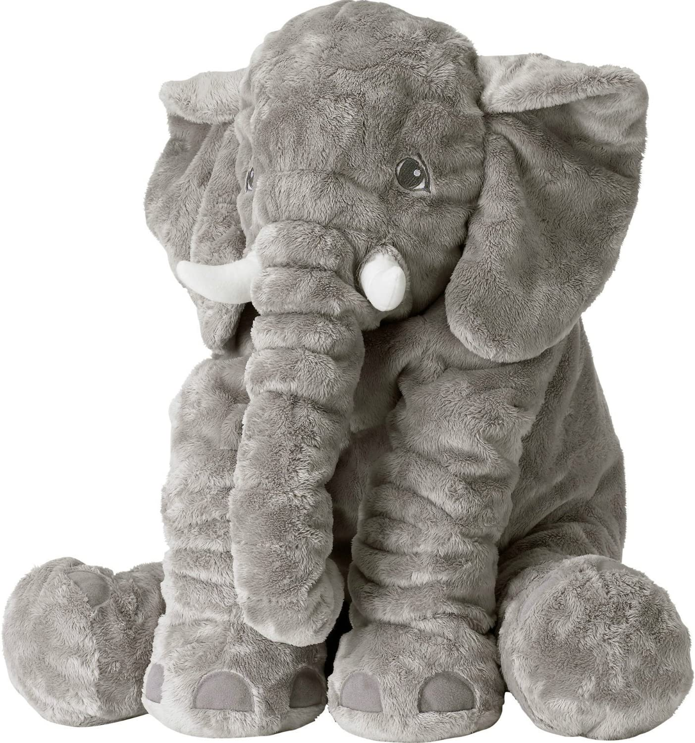 Weslisa Elephant PlushToys Soft Animal Toys Stuffed Cushion Cute Children's Gifts (Grey)