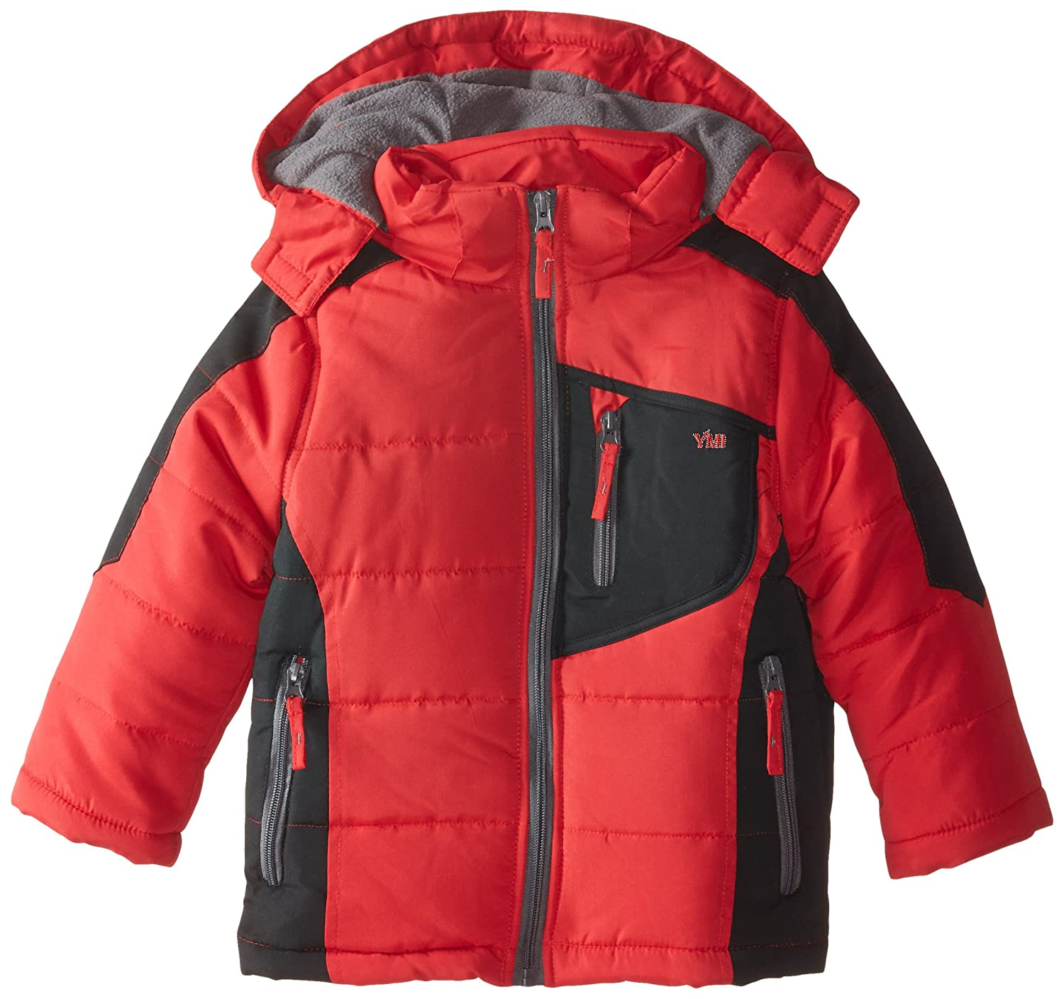 YMI Boys' Color Block Bubble Jacket with Detachable Hood YMI Boys 2-7 1358TBL