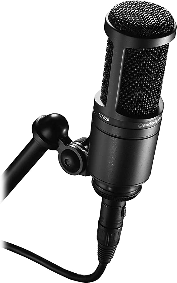 Audio-Technica AT2020 Cardioid Condenser Studio XLR Microphone