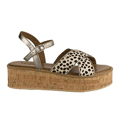 en soldes 8a967 36e91 Miglio Nu Pieds Femme Leopard: Amazon.fr: Chaussures et Sacs