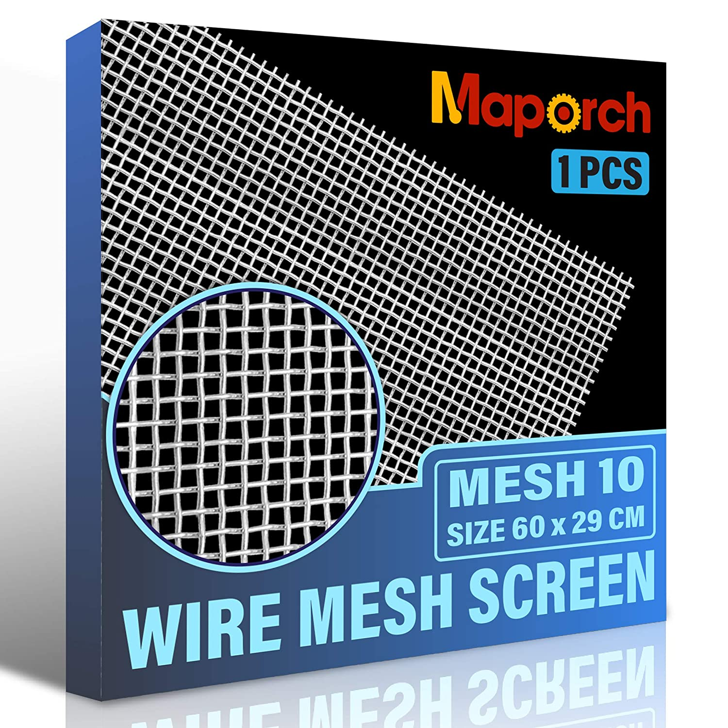 MAPORCH 304 Stainless Steel Mesh Screen Type Mesh 10 Wire 11.4