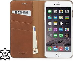 StilGut Talis collection italienne, housse portefeuille en cuir pour iPhone 6 Plus & iPhone 6s Plus (5.5 pouces), terracotta