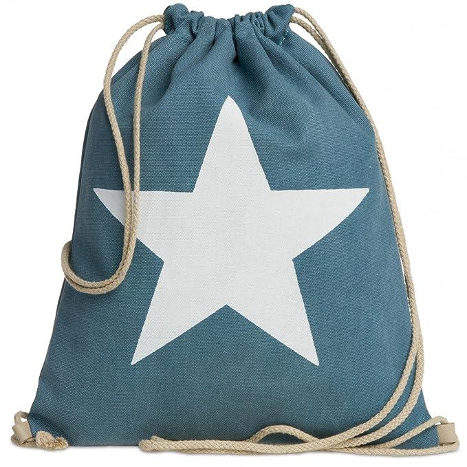 CASPAR TL715 Mochila de Cuerda Unisex/Bolsa de Deporte Hecho de Lona con Estrella, Color:azul vaquero;Tamaño:Talla Única: Amazon.es: Ropa y accesorios