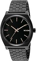 Nixon Men's A045957 Time Teller Black Stainless Steel Bracelet Watch