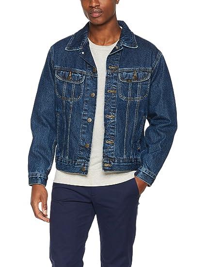 9bb3c858 Lee Men's Rider Jacket Long Sleeve Denim Jacket: Amazon.co.uk: Clothing