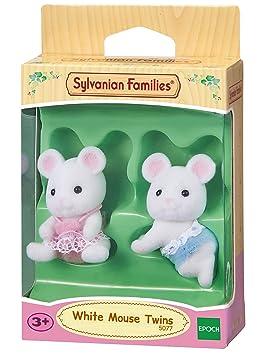 SYLVANIAN FAMILIES- White Mouse Twins Mini muñecas y Accesorios, (Epoch para Imaginar 5077)