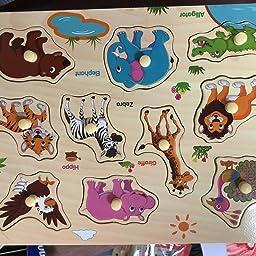 Amazon Co Jp カスタマーレビュー Corper Toys 木製 型はめ おもちゃ パズル 形合わせ 積み木 形認識 英語 5種類シリーズ 子ども カラフル プレゼント クリスマス