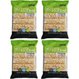 Crunchy Puffed Rice Cracker Bar, Snack Roll Made from Real Rice Gluten Free, 5 Treats (Pack of 4) - Original Rice Flavor