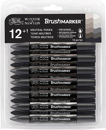 Winsor & Newton BrushMarker - Pack de 13 rotuladores, tonos ...