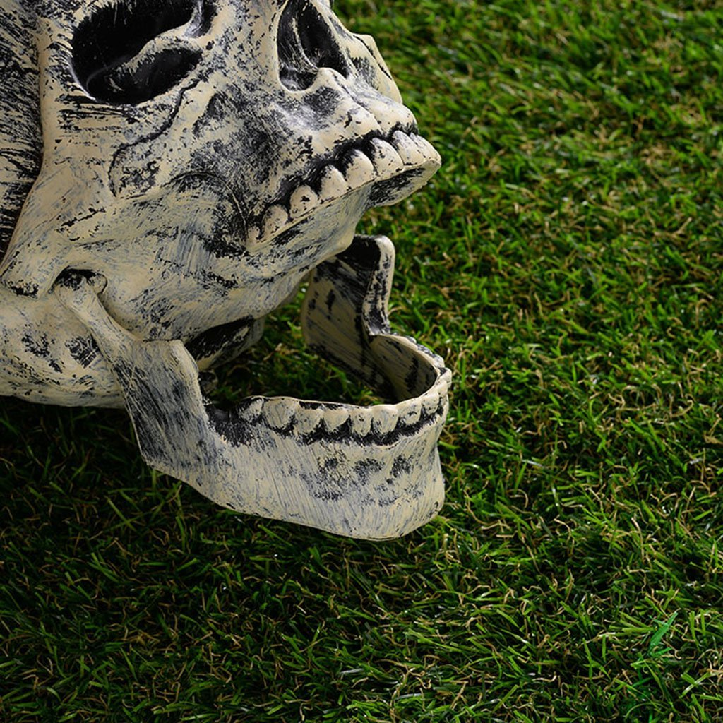 Scary Skull and Hands Skeleton, Crazy Bones for Halloween Decorations, Garden Decoration Halloween, Realistic Bones, Decoration Props