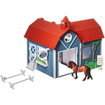 "Breyer Stablemates Riding Camp Horse Toy | 8 Piece Play Set with 1 Horse | 9.75"" x 7.5"" x 8.25"" 